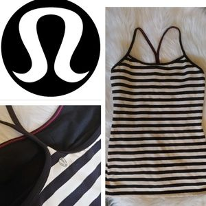 Lululemon power Y striped tank